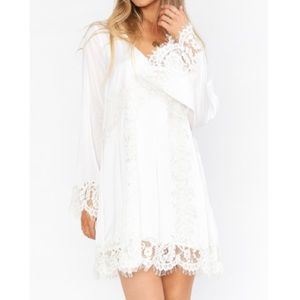 New Show Me Your Mumu Carrie Lace Dress White XS
